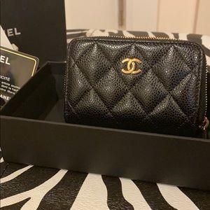 Chanel coin zip wallet